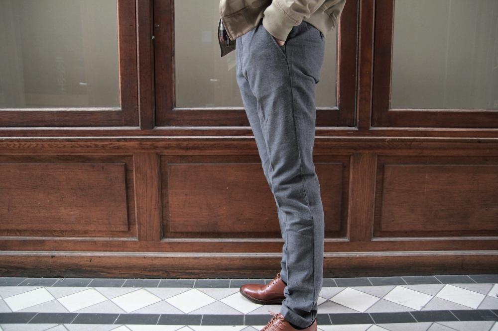 jagvi pantalon city pant flanelle gris 02
