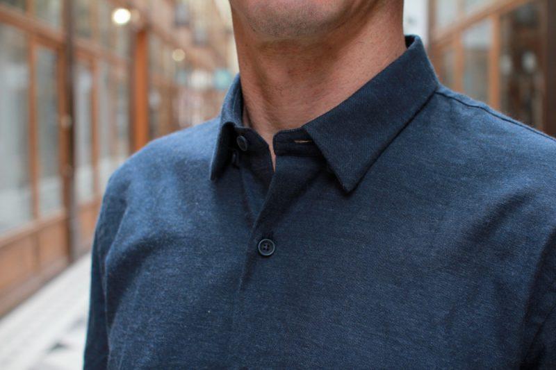 jagvi chemise hidden shirt flanelle navy 02